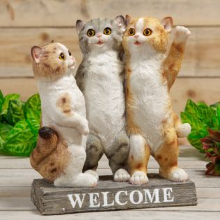 Best of Breed Three Kittens Welcome Ornament Product Image