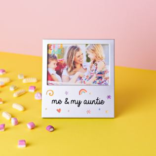 "5"" x 3.5"" Cheerful Aluminium Photo Frame - Me & My Auntie Product Image"