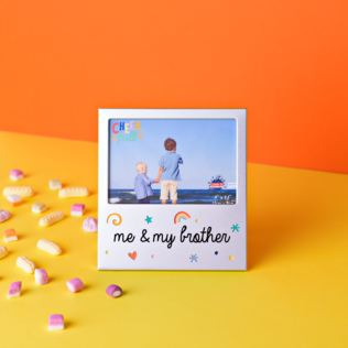 "5"" x 3.5"" Cheerful Aluminium Photo Frame - Me & My Brother Product Image"