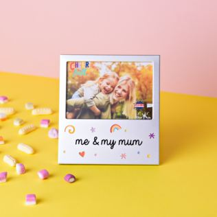 "5"" x 3.5"" Cheerful Aluminium Photo Frame - Me & My Mum Product Image"