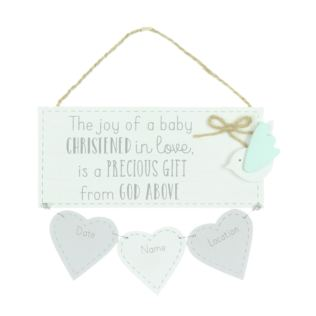 Petit Cheri Christening Data Plaque Product Image