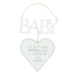 Petit Cheri Christening Heart Plaque Product Image