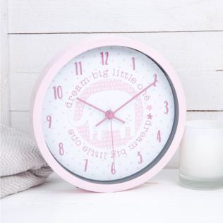 Petit Cheri Dream Big Little One Wall Clock - Pink Product Image
