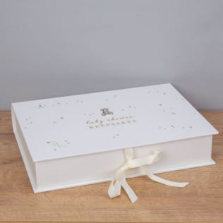 Bambino Little Star Baby Shower Keepsake Box A4 Product Image