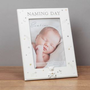 "4"" x 6"" - Bambino Resin Naming Day Photo Frame Product Image"