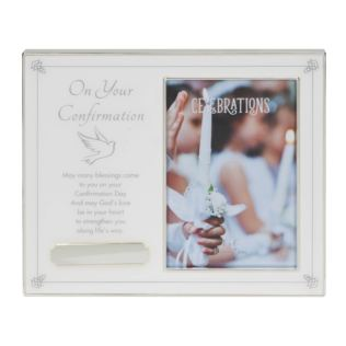 "4"" x 6"" - On Your Confirmation Frame with Engraving Plate Product Image"