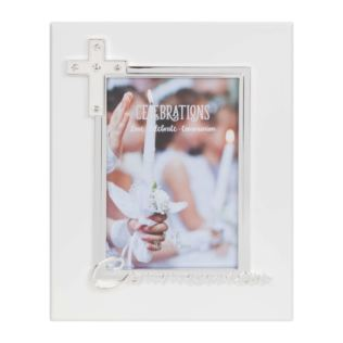 "4"" x 6"" - Silver Plated & Epoxy Photo Frame - Communion Product Image"