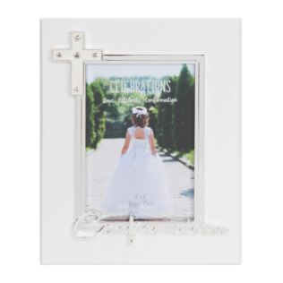 "4"" x 6"" - Silver Plated & Epoxy Photo Frame - Confirmation Product Image"