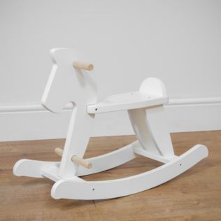 Bambino White Wooden Rocking Horse Product Image