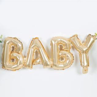 Bambino Baby Shower Gold Balloon - Baby Product Image