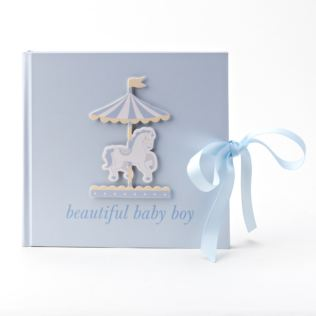 Hello Baby Photo Album Carousel Design 'Beautiful Baby Boy' Product Image