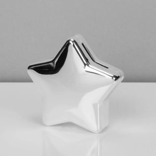 Bambino Silver Plated Star Shape Money Box Product Image