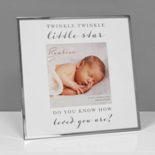 "5"" x 5"" - Bambino Silver Plated Frame Twinkle Twinkle Star Product Image"