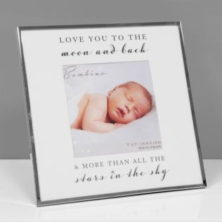 "5"" x 5"" - Bambino Silver Plated Photo Frame - To The Moon Product Image"