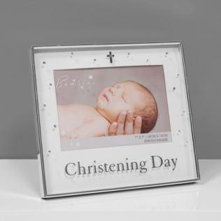 "7"" x 5"" - Bambino Silver Plated Photo Frame - Christening Product Image"