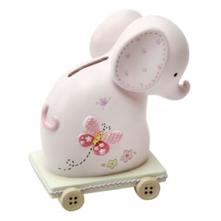 Petit Cheri Pink Elephant Money Box Product Image