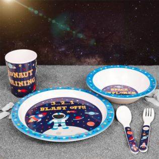Space Explorer 5 Piece Melamine Breakfast Set Product Image