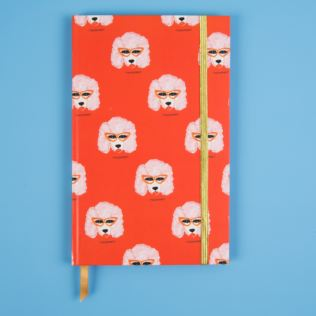 Bouffants & Broken Hearts Poodle Hardback A5 Notebook Product Image
