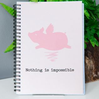 Animal Friends Flying Pig Notebook - A5 Product Image