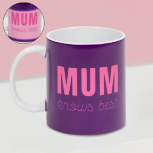 For Your Eyes Only Heat Changing Mug - Mum Knows Best Product Image