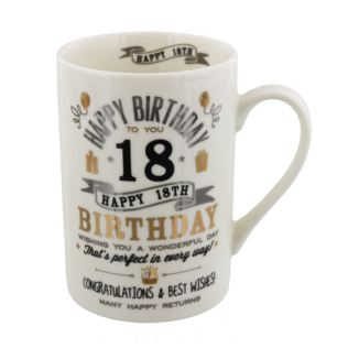 Signography Silver & Gold 18th Birthday Mug Product Image