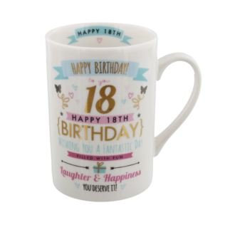 Signography Pink & Gold 18th Birthday Mug Product Image