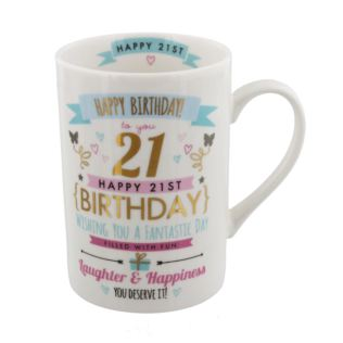 Signography Pink & Gold 21st Birthday Mug Product Image