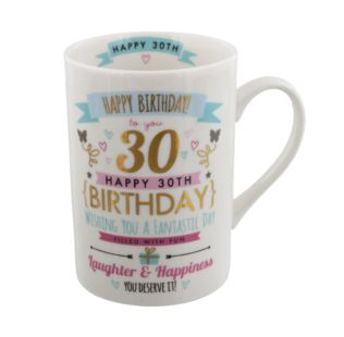 Signography Pink & Gold 30th Birthday Mug Product Image