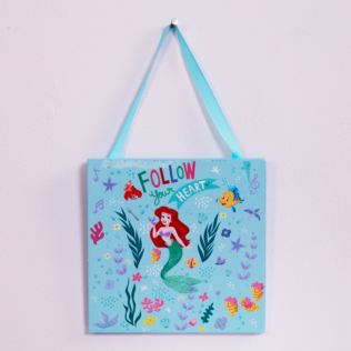 Disney Princess Aqua Little Mermaid Hanging Plaque Product Image