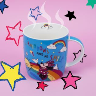 Disney Minnie Mouse Blue Rainbow Mug - Make Me Smile Product Image