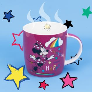 Disney Minnie Mouse Pink Rainbow Mug Product Image