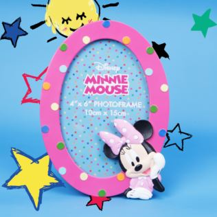 "4"" x 6"" - Disney Minnie Rainbows Make Me Smile Oval Frame Product Image"