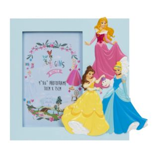 "4"" x 6"" - Disney Princess Rectangle Blue Frame Product Image"