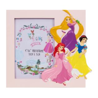 "4"" x 6"" - Disney Princess Rectangle Pink Frame Product Image"