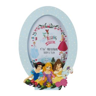 "4"" x 6"" - Disney Princess Frame Snow White, Rapunzel & Belle Product Image"