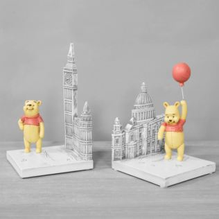 Disney Christopher Robin Resin Winnie the Pooh Bookends Product Image