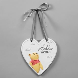 Disney Christopher Robin Relief Heart Hello World Plaque Product Image
