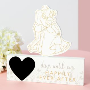 Disney Cinderella & Prince Charming Countdown Plaque Product Image