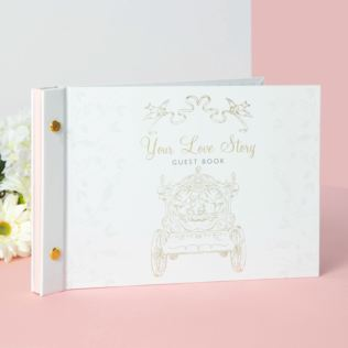 Disney Happily Ever After Wedding Guest Book - Cinderella Product Image