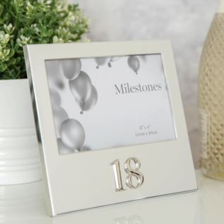 "6"" x 4"" - Milestones Birthday Frame with 3D Number - 18 Product Image"