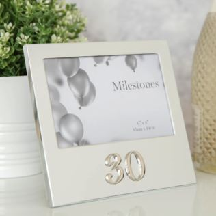 "6"" x 4"" - Milestones Birthday Frame with 3D Number - 30 Product Image"