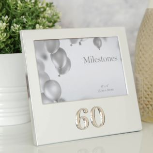 "6"" x 4"" - Milestones Birthday Frame with 3D Number - 60 Product Image"