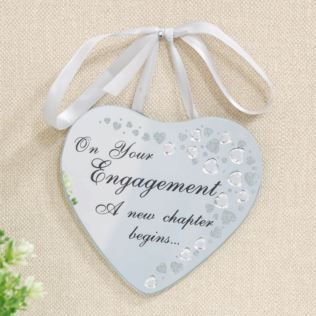 CELEBRATIONS® Glass & Crystal Heart Plaque - Engagement Product Image