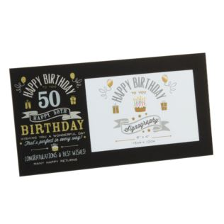 "6"" x 4"" - Signography 50th Birthday Glass Frame Product Image"