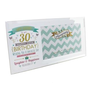 "6"" x 4"" - Signography 30th Birthday Glass Frame Product Image"