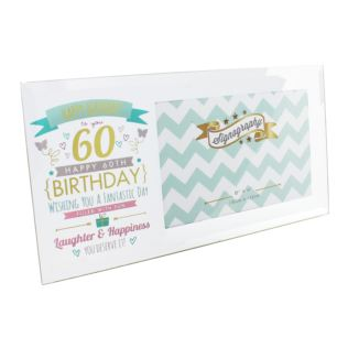 "6"" x 4"" - Signography 60th Birthday Glass Frame Product Image"