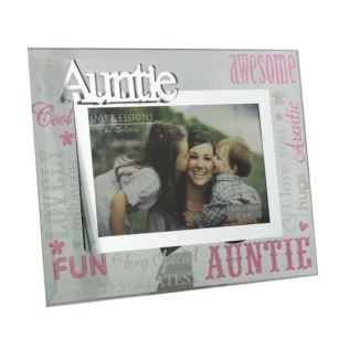 "6"" x 4"" - Celebrations Glass Photo Frame - Auntie Product Image"