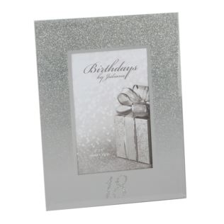 "4"" x 6"" - Birthdays by Juliana Glitter Mirror Frame - 18th Product Image"