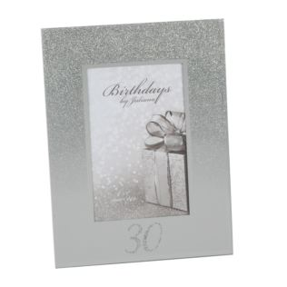 "4"" x 6"" - Birthdays by Juliana Glitter Mirror Frame - 30th Product Image"