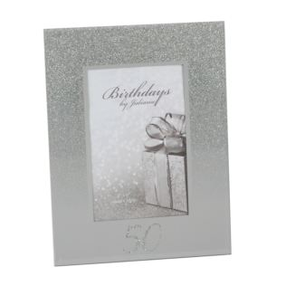 "4"" x 6"" - Birthdays by Juliana Glitter Mirror Frame - 50th Product Image"